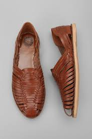 huarache sandals are trending for men up 66 this year try urban outfitters brown leather ones on for size