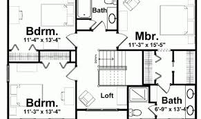 Blueprints Bedroom Homes Eplans Craftsman House Plan Three. Stunning  Blueprint Of House With 3 Bedrooms