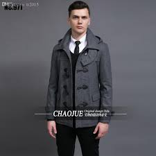 2018 fall short design male woolen overcoat 2016 fashion detachable cap horn on vintage coatswool pea coat grey coats from tt2016 113 84 dhgate com