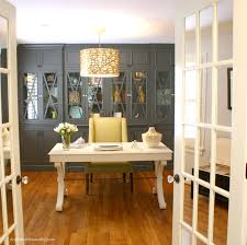 home office french doors. a stylish home office craft rooms decor mirrored panes on the french doors for privacy
