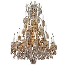 magnificent antique french baccarat crystal chandelier circa 1850 intended for favorite antique chandeliers gallery 12