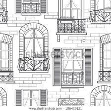 window designs drawing. Modren Designs Seamless Windows Pattern With Window Designs Drawing O