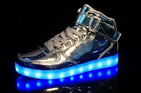 Merkmak <b>Hot Sale Golden Silver</b> Big Size 46 Led Shoes Men ...