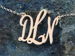1 925 sterling silver monogram necklace monogram jewelry