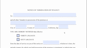 20 Unique 60 Day Notice Of Termination Of Tenancy Template ...