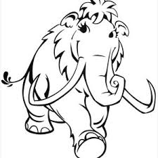 Small Picture Ice Age Coloring Page Free Download
