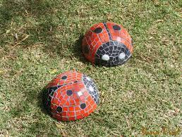 terrace and garden ladybug mosaic gardens diy garden mosaic