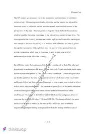 essay on the cultural function of celebrity sclg  essay on the cultural function of celebrity
