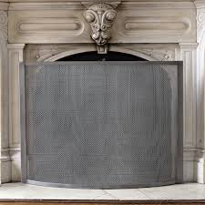 fireplace screen west elm rh westelm com custom fireplace screens with doors metal fireplace screen
