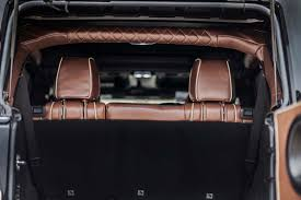 king ranch style leather interior with tan piping brown tan detail int