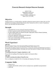 Sample Resume Of Business Analyst For Analyst Cover Letter
