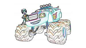 Greatest Blaze Coloring Pages And The Monster Machines For Kids