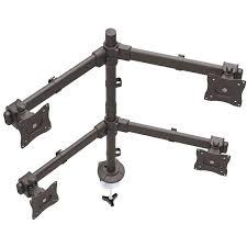 thumbnail 5 for desk mount quad monitor arm articulating heavy duty steel dell quad monitor desk