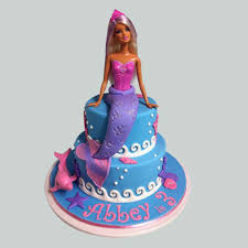 Cute Mermaid Barbie Cake 3kg Eggless Gift Elsa Mermaid Barbie