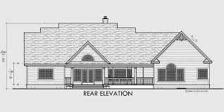 single level house plans. House Front Drawing Elevation View For 10088 Colonial Plans Dormers Bonus Room Over Garage Single Level