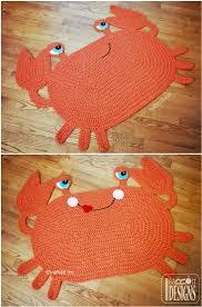 crochet crab rug pattern