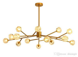 crystal tree branch chandelier in the postmodern living room is modern and simple creative and personalized