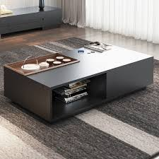 rectangular storage coffee table with