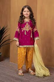 Baby Kurti Design 2019 Maria B Fancy Kids Dresses Designs For Girls 2019 20 Collection