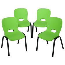 stacking chair lime green pack