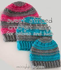 Free Crochet Hat Patterns For Toddlers Beauteous Free Pattern Sweet Striped Crochet Hat For Babies And Kids