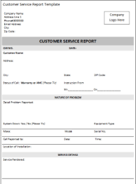 free excel customer service report template