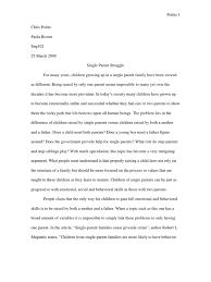 argument essay single parent stepfamily