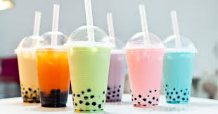 bubble tea powder mix with popping boba