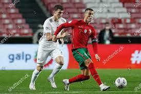 Portugals Cristiano Ronaldo R action against Frances Editorial Stock Photo  - Stock Image