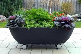 bathtub planter old bathtub planter on wheels vintage bathtub planter with stand