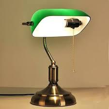 reuse old shanghai antique green cover of national bank study desk lamp bronze glass vintage
