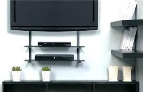 tv wall mount for corner wall mount with shelf for cable box wall mount shelf image