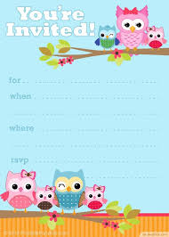 baby shower invitation blank templates free printable owl party invitation template http bestpickr