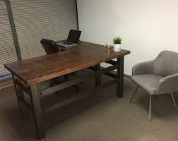 industrial office desks. Buy A Hand Crafted Vintage Industrial Desk Wreturn Reclaimed With L Shaped Renovation Office Desks