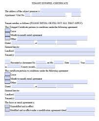 Free Tenant Estoppel Certificate Form Pdf Word - Mandegar.info
