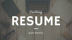 Json Resume Creating Online Resume with Netlify JSON Resume moschan Medium 40