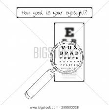 Blurry Eye Test Chart Snellen Chart Eye Vector Photo Free Trial Bigstock