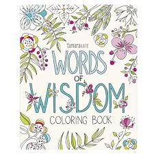 words of wisdom coloring book