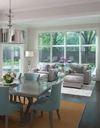 gray and white dining room