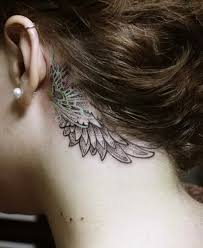 Dream Catcher Tattoo Behind Ear 100 Pretty Behind The Ear Tattoos For Creative Juice 32