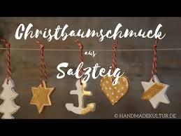 Christbaumschmuck Aus Salzteig Youtube