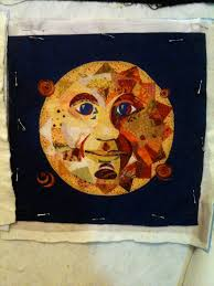 Creating fiber art through quilting allows me to stretch my ... & I'm really pleased with the results. The facial features look pretty  accurate and I learned a lot. I couldn't wait to start my next quilt ….MoonFace. Adamdwight.com