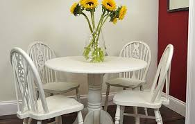 unique shabby chic round dining table and chairs stair railings model new in shabby chic round