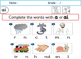 These workbooks are a collection of worksheets based around the different sets from jolly phonics at a more basic level. Ai Sound Jb P2 G2s1 Worksheet