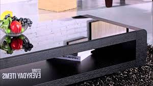 widely used bordeaux coffee tables throughout bordeaux glass top coffee table in black oak veneer