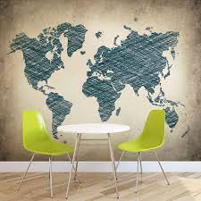 map world complete wall mural photo wallpaper l world map artistic draw ws