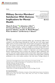 pdf military service members satisfaction with outness implications for mental health