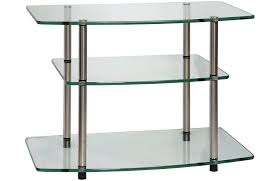 3 shelf glass tv stand swivel in 1 for s up to thinking this
