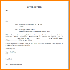 Examples Of Executive Resumes Appointment Letter Format Doc