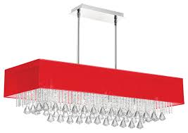 jacqueline 10 light crystal horizontal chandelier with shade red